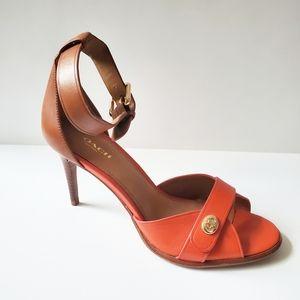Coach Kathleen Ankle Strap Turnlock Heels